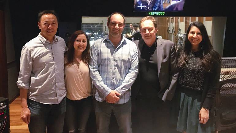Pictured are: BMI's Ray Yee, BMI composers Cindy O'Connor, Michael Simon and Mark Isham, and BMI's Reema Iqbal.