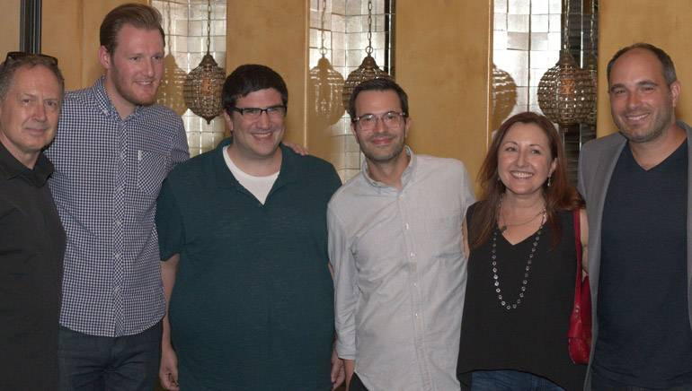 """Pictured (L-R) are: BMI composer Mark Isham, BMI's Chris Dampier, """"Once Upon a Time"""" creators Adam Horowitz and Edward Kitsis, and BMI composers Cindy O'Connor and Michael Simon."""