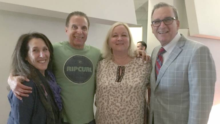 Pictured L-R are: BMI's Barbie Quinn; BMI affiliate Jud Friedman; President and COO peermusic, Kathy Spanberger, and Leeds Levy, President, Leeds Music.