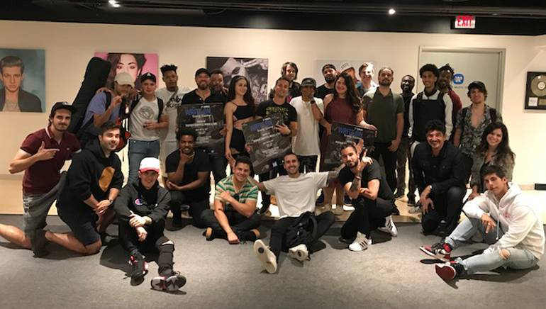"BMI, Warner/Chappell and Warner Music Group ""Write On"" song camp participants and executives pose for a photo following a successful two-day collaborative experience."