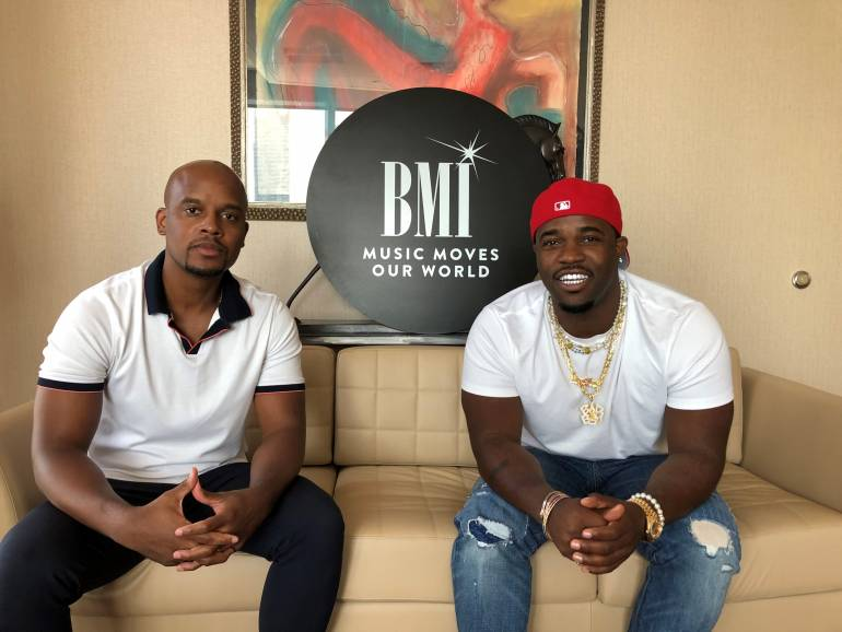 Pictured: BMI's Omar Grant with A$AP Ferg