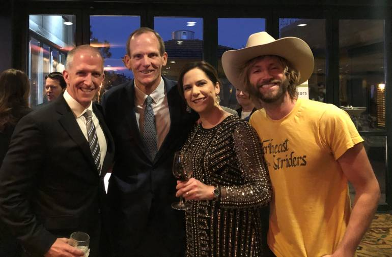 Pictured at the dinner are: CEO of Little Pub Company and incoming CRA Board Chair KC Gallagher, BMI's Dan Spears, CRA President & CEO Sonia Riggs and BMI songwriter Paul McDonald.