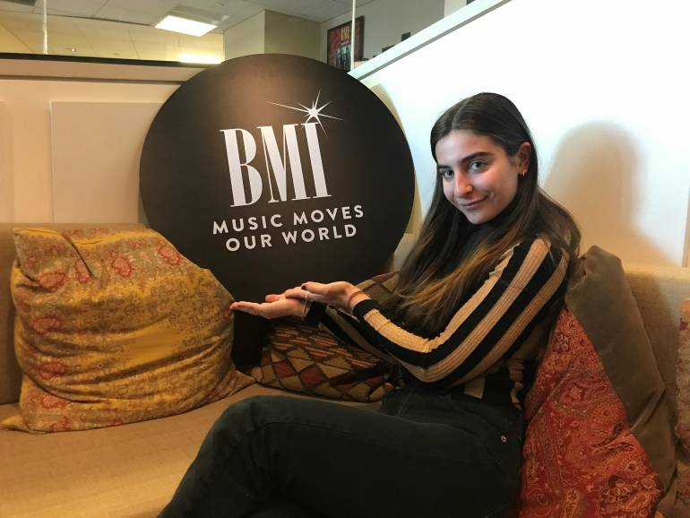 BMI singer/songwriter Celia Babini visits the New York offices.