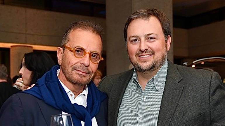Pictured are: DAOU Vineyards Proprietor Georges Daou and BMI's Mason Hunter.