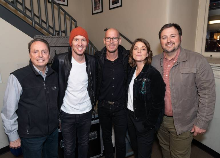 BMI's Jody Williams, Tim and Phil Hanseroth, Brandi Carlile and BMI's Mason Hunter