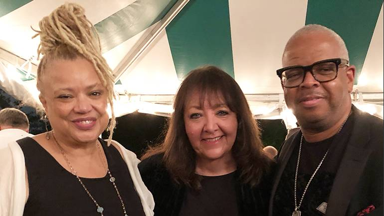 Pictured at the after party for the opera are librettist Kasi Lemmons, BMI's Doreen Ringer-Ross and composer Terence Blanchard.
