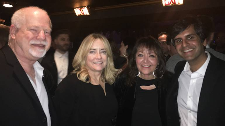 Pictured (L-R) at the GMS annual awards are: Disney's Scott Holtzman, GMS founder Maureen Crowe, BMI's Doreen Ringer-Ross and composer Siddhartha Khosla, who was a presenter.