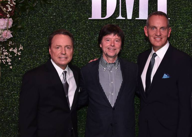 Pictured at the 2016 BMI Country Awards are BMI's Jody Williams, Ken Burns and BMI President and CEO Mike O'Neill.