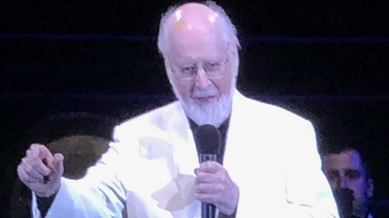 BMI composer John Williams acts as host during the evening celebrating his music at the Hollywood Bowl.