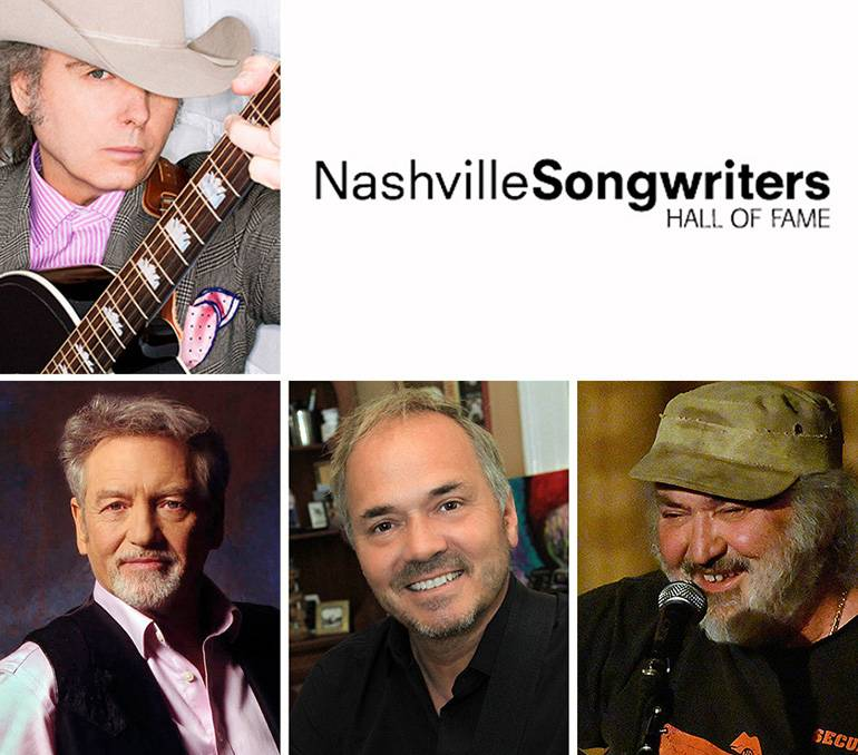 Pictured clockwise from top are BMI songwriters Dwight Yoakam, Kostas, Marcus Hummon and Larry Gatlin.