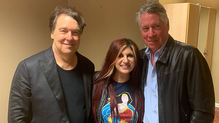 """BMI composer and conductor David Newman; BMI's Senior Director Creative-Film, TV & Visual Media, Anne Cecere; and BMI composer Alan Silvestri gather for a photo at the performance of """"Back to the Future."""""""