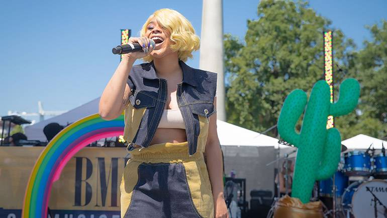 Tayla Parx hits the BMI Stage during ONE Musicfest.