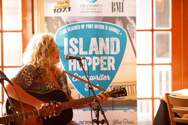 Judy Blank performs at the 2019 Island Hopper Songwriter Festival in downtown Fort Myers.