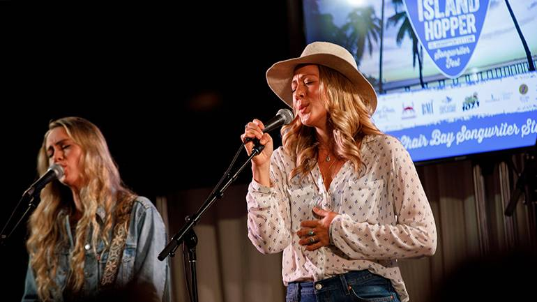 Colbie Caillat performs as Gone West during the 2019 Island Hopper Songwriters Festival in downtown Fort Myers.