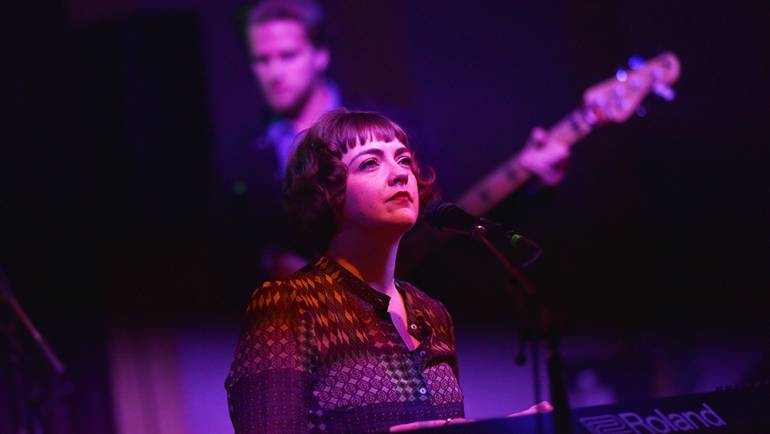 Neyla Pekarek (formerly of The Lumineers) takes a moment to soak it all in at the BMI Snowball during the 2019 Sundance Film Festival at The Shop on January 29, 2019 in Park City, Utah.