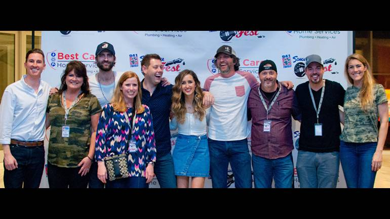 Pictured (L-R) before the performances are: BMI's Spencer Nohe, 94.1 The Wolf midday personality, Cindy Debardelban; BMI songwriter Ryan Hurd; Director of Sales Entercom Memphis, Amy Hughes; 94.1 The Wolf afternoon personality, Marty Brooks; BMI songwriter's Parker Welling and Brandon Kinney; 94.1 The Wolf morning personality, StyckMan; 94.1 The Wolf Director of Branding & Music Programming, Chris Michaels; and RCA Promotions Rep, Mallory Michaels.