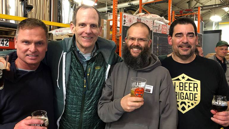 Pictured (L-R) at the Indiana Craft Brewers conference in Indianapolis are: BMI songwriter Tim James, BMI's Dan Spears, Function Brewing owner and Brewers of Indiana Guild Board President Steve Llewellyn and Brewers of Indiana Guild Executive Director Rob Caputo.