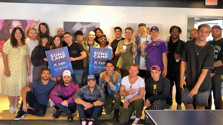 "This year's ""Write On"" song camp brought together 25 songwriters and producers from various genres and countries to the Atlantic Records Studios on July 21, 2019 in Hollywood."