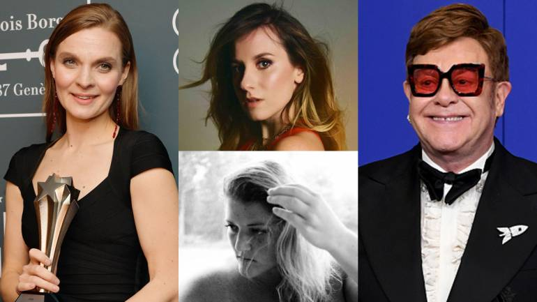 Pictured clockwise from left are Hildur Guðnadóttir, Caitlyn Smith, Elton John and Kate York.
