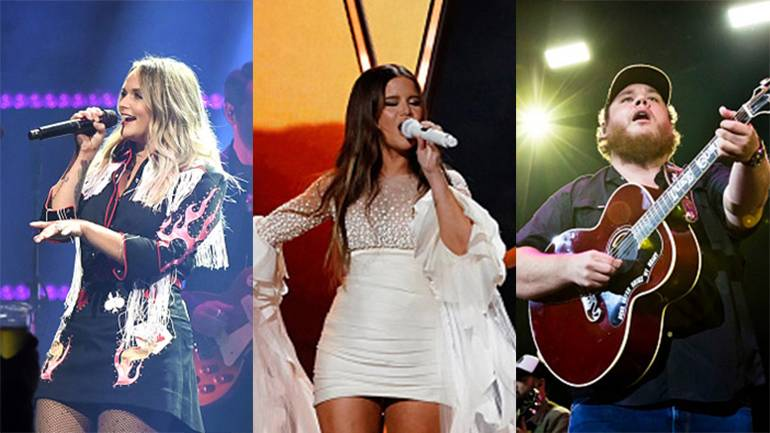 Pictured are BMI songwriters Miranda Lambert, Maren Morris and Luke Combs
