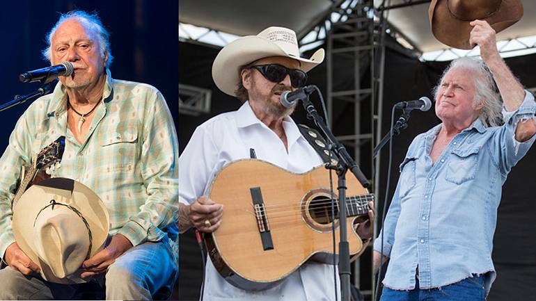 Pictured (L-R) are BMI songwriters Jerry Jeff Walker, Johnny Bush and Billy Joe Shaver.