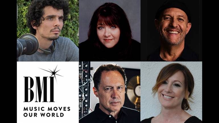 Pictured clockwise from top left are director/executive producer Damien Chazelle, BMI's Doreen Ringer-Ross, composer/actor Randy Kerber, music supervisor Mary Ramos and BMI composer Mark Isham.