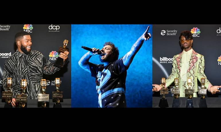 L-R: Khalid, Post Malone, Lil Nas X