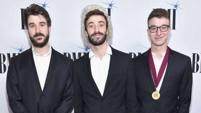 Musicians Adam Met, Jack Met and Ryan Met of AJR at the 65th Annual BMI Pop Awards on May 9, 2017 in Los Angeles, California.