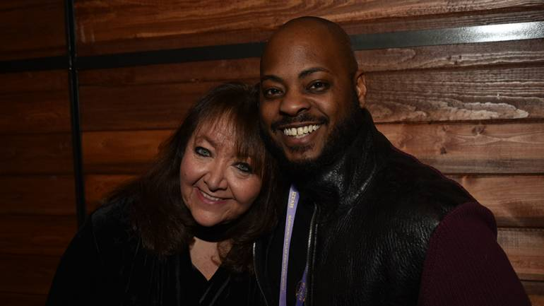 Composer Jongnic Bontemps and BMI's Doreen Ringer-Ross gather to celebrate the power of music in film during the Sundance Film Festival on January 27 in Park City, Utah.