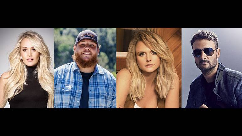 Pictured are CMA Entertainer of the Year nominees Carrie Underwood, Luke Combs, Miranda Lambert and Eric Church.