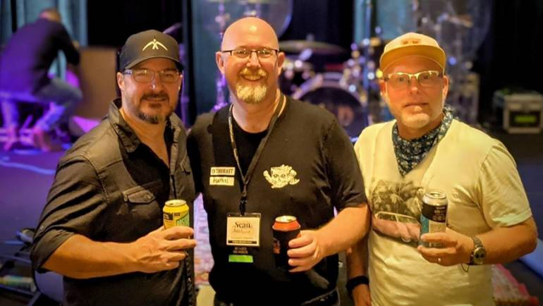 Pictured (L-R) after the performance during the Florida Brewers conference are: BMI songwriter Hunter Smith, Florida Brewers Guild Executive Director Sean Nordquist and BMI songwriter Danny Myrick.