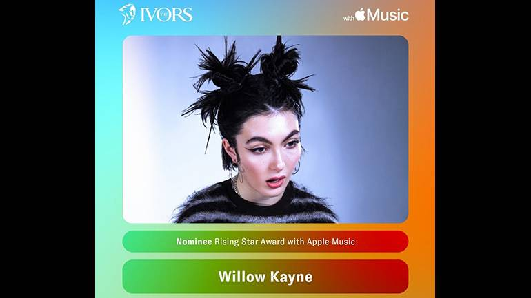 Pictured is Ivor Novello Rising Star Award With Apple Music nominee Willow Kayne