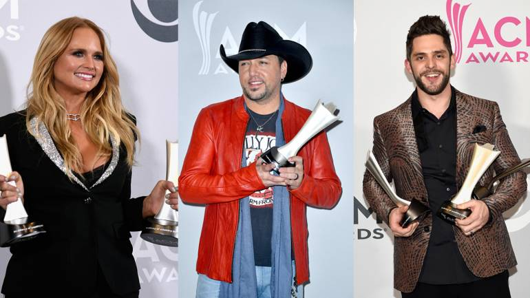 Pictured (L-R): Miranda Lambert, Jason Aldean, Thomas Rhett