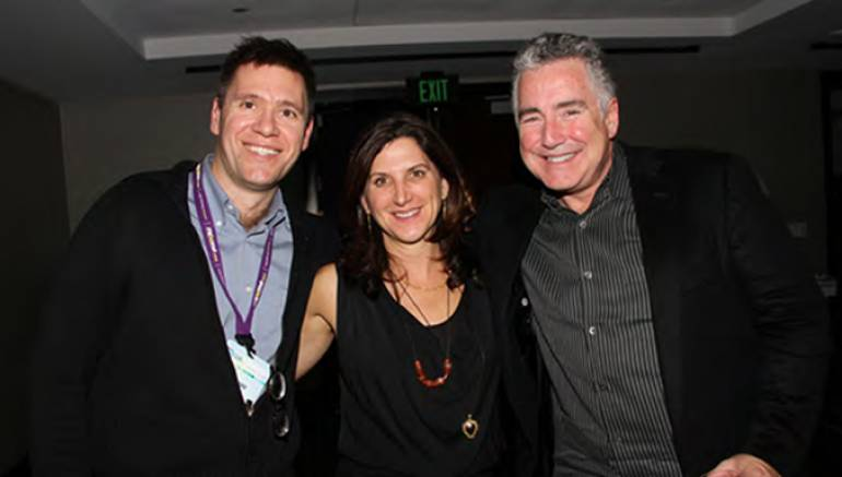 Pictured L-R: EMI's Bertrand Bodson, Google's Zahavah Levine, and BMI's Richard Conlon
