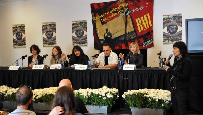 """BMI's """"Music in Film"""" panel takes place during the 13th annual Woodstock Film Festival in Woodstock New York."""