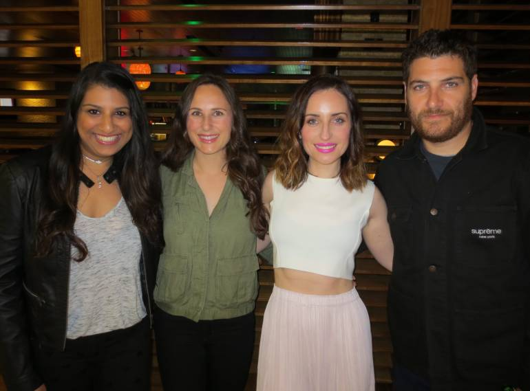 BMI's Reema Iqbal, Natalia Anderson (Producer), Zoe Lister-Jones, Adam Pally (actor) at the screening of Band Aid in Los Angeles.