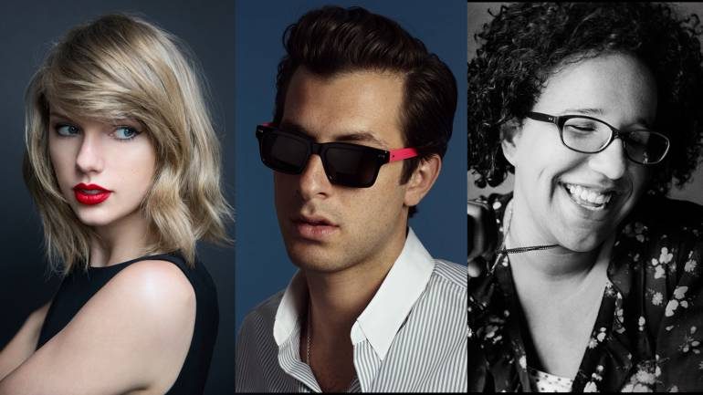 Pictured: Taylor Swift, Mark Ronson and Brittany Howard of Alabama Shakes