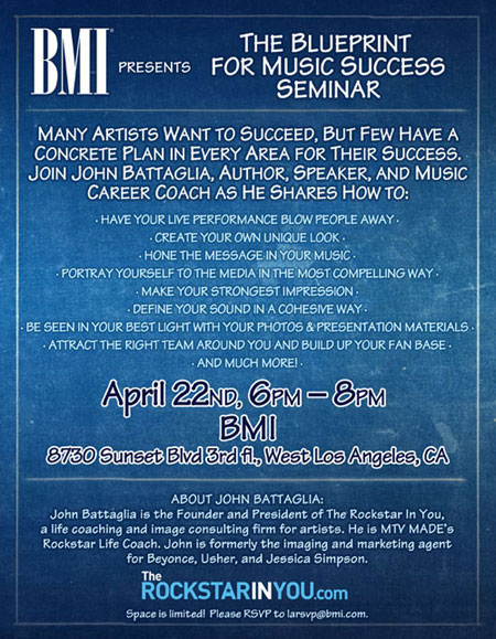 Bmi presents the blueprint for music success seminar los angeles rockstar la malvernweather Image collections