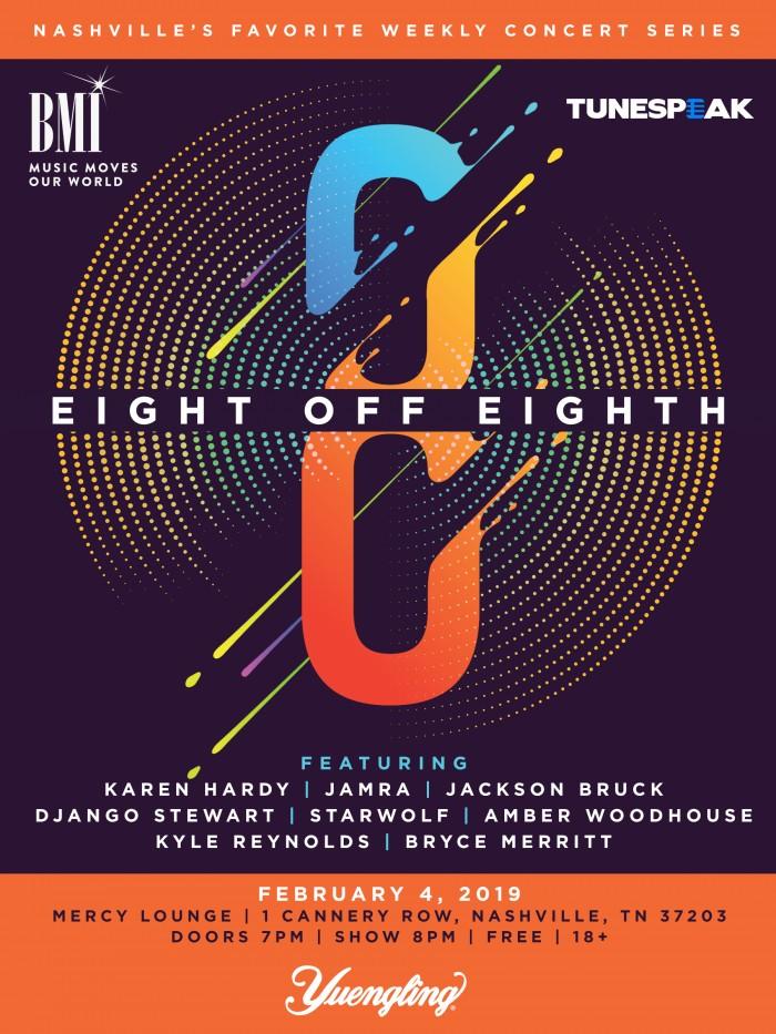 "BMI presents…""8 off 8th"": Nashville, TN: February 4, 2019"