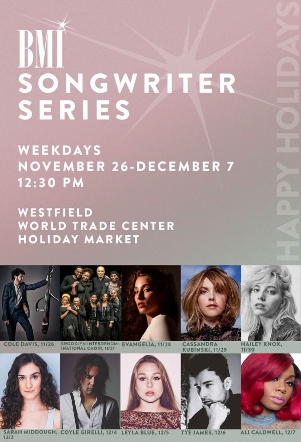 BMI Songwriter Series @ Westfield World Trade Center: New