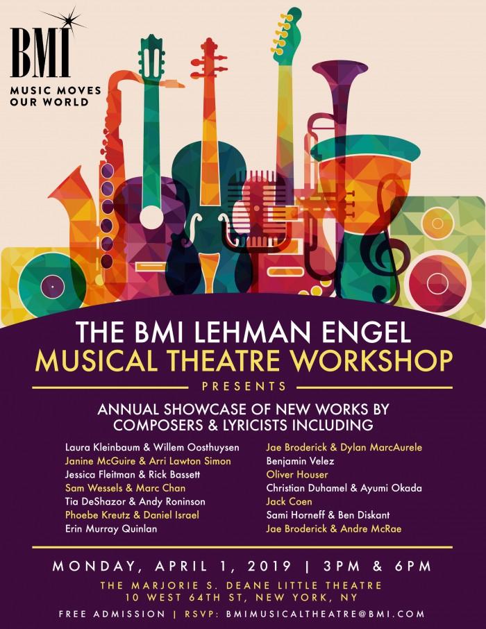 BMI Lehman Engel Musical Theatre Worshop Showcase: New York