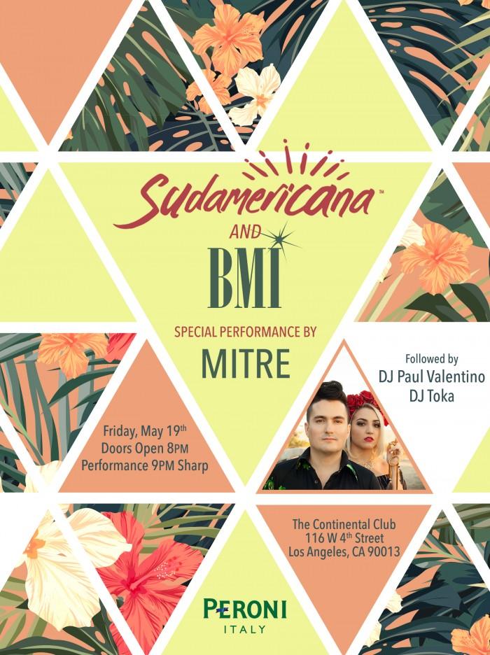 May Calendar Los Angeles : Sudamericana and bmi present… los angeles may