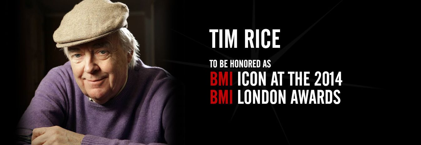 Tim Rice to be Honored as BMI Icon