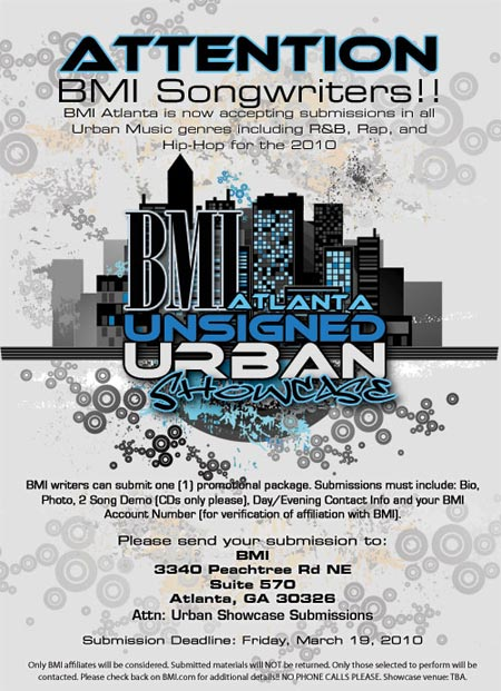 BMI Now Accepting Submissions for 13th Annual Unsigned Urban