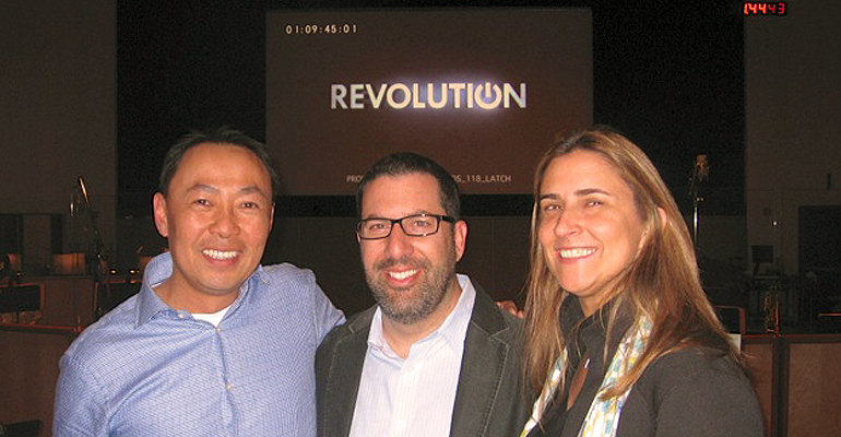 From left to right:  Ray Yee, BMI Assistant Vice President, Film/TV Relations; BMI composer Christopher Lennertz and Kris Muñoz, Senior Director, Business & Legal Affairs at BMG Chrysalis.