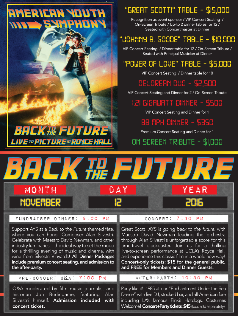 Bmi Helps Take American Youth Symphony Back To The Future News Bmi Com
